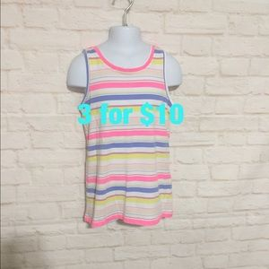 NWOT colorful striped tank girls 10